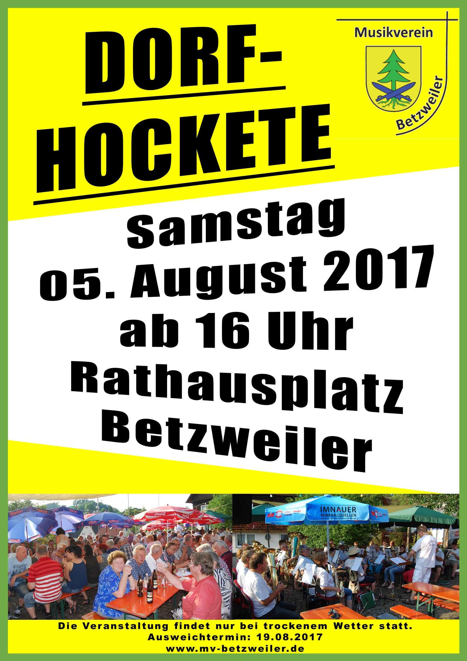 Plakat Dorf Hockete 2017