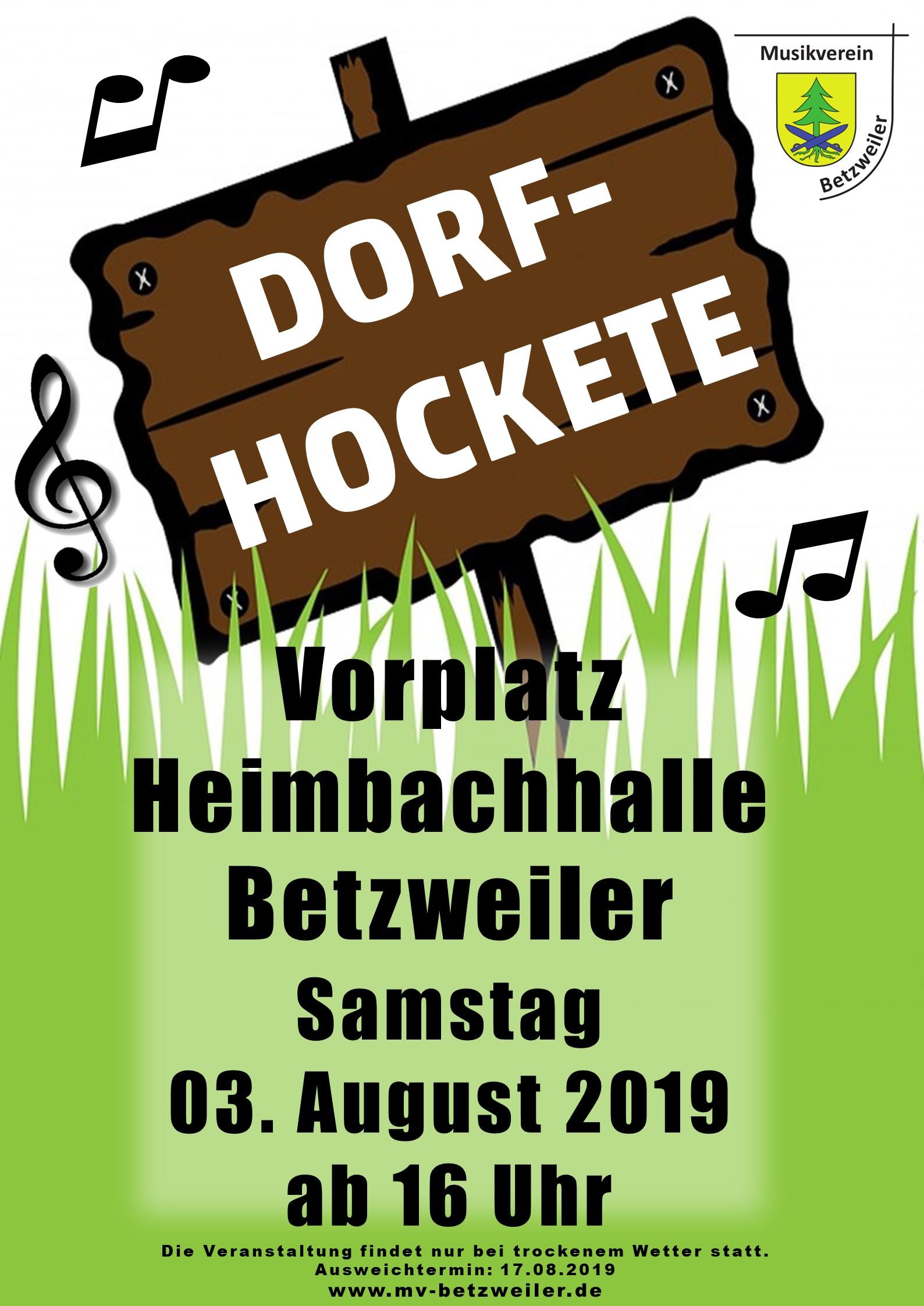 Plakat Dorf Hockete 2019