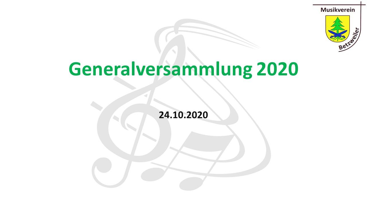 Präsentation GV 2020