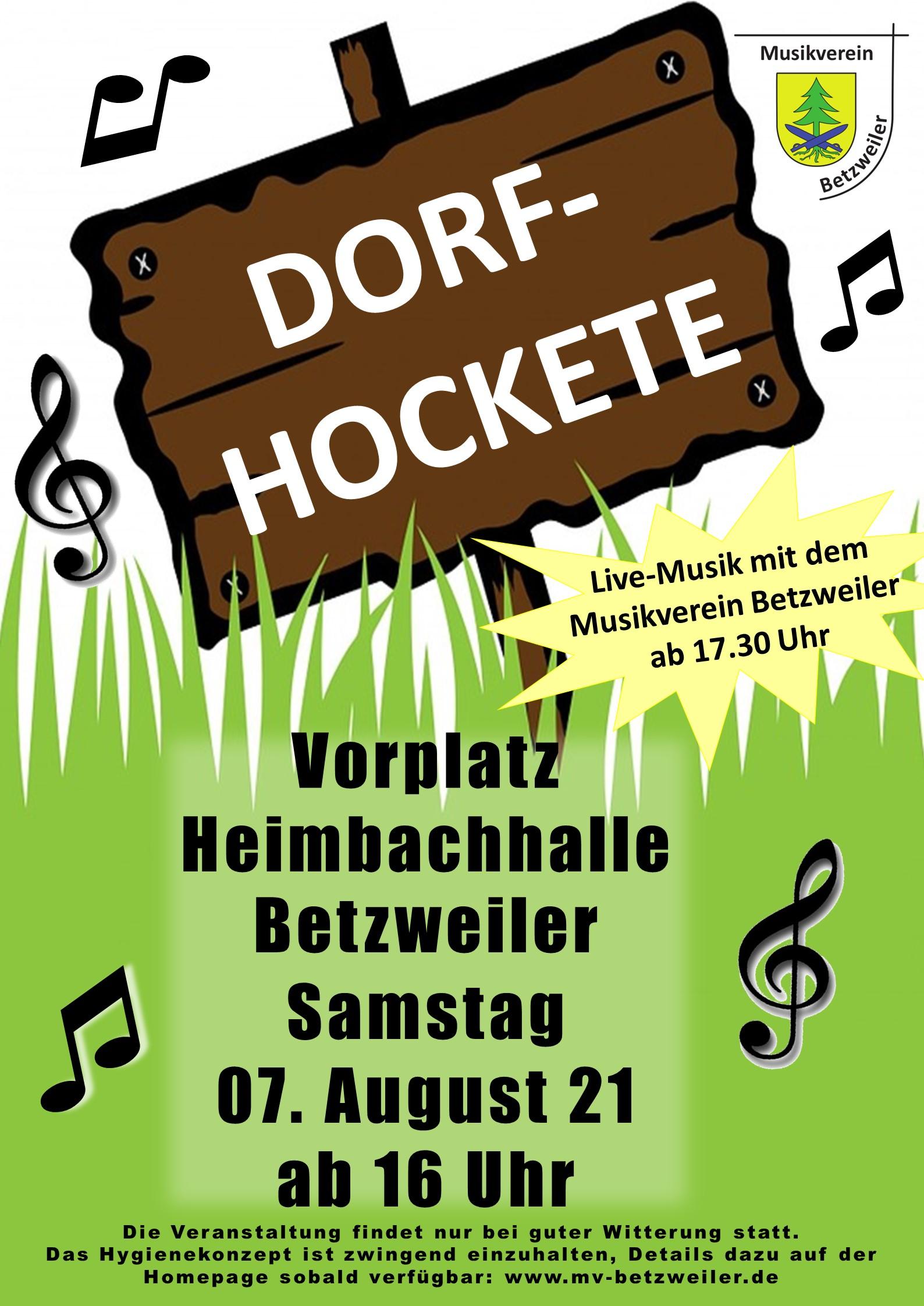 Plakat Dorf Hockete 2021